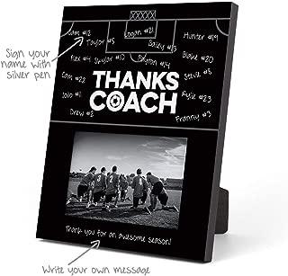 ChalkTalkSPORTS Soccer Photo Frame | Coach (Autograph) Picture Frame | Black