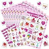 San Carte da Gioco Bingo per Bambini attività di Forniture per Feste di Classe, 24 Giocat...