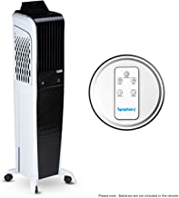 Symphony Diet 3D 55i+ Tower Air Cooler 55-litres with Magnetic Remote, 3-Side Cooling Pads, Auto Pop-up Touchscreen, Multi...