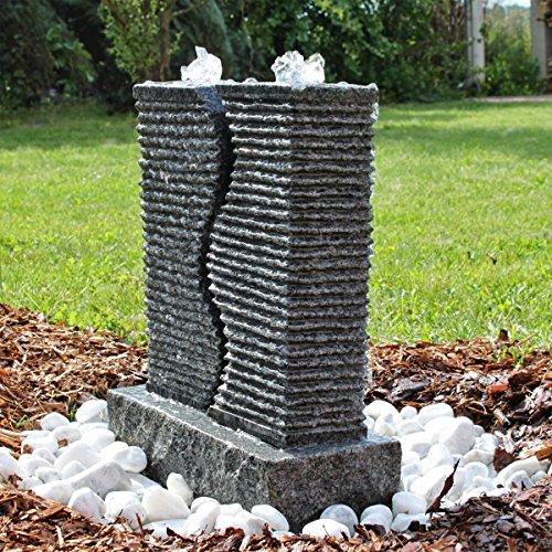 CLGarden Granit Springbrunnen SB5 2 Säulen Brunnen komplettes Set
