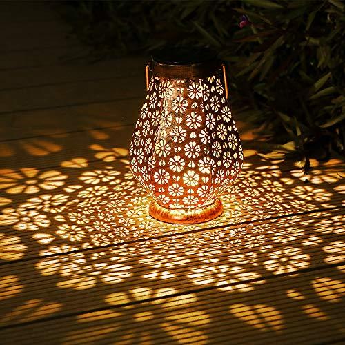 Lanterna Solare, Infankey Lanterne da Esterno, IP65 Impermeabile, Sospesa per Giardino, Terrazza,...