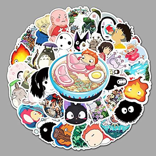 ZXXC 50 Uds Anime japonés Hayao Miyazaki animación Dibujos Animados Personalidad Manual portátil Equipaje Impermeable Pegatina Decorativa