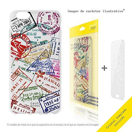 Funnytech® beschermhoes van siliconen voor Sony Xperia XZ [flexibele siliconengel, exclusief design] stempel voor reizigers van vers. transparant.