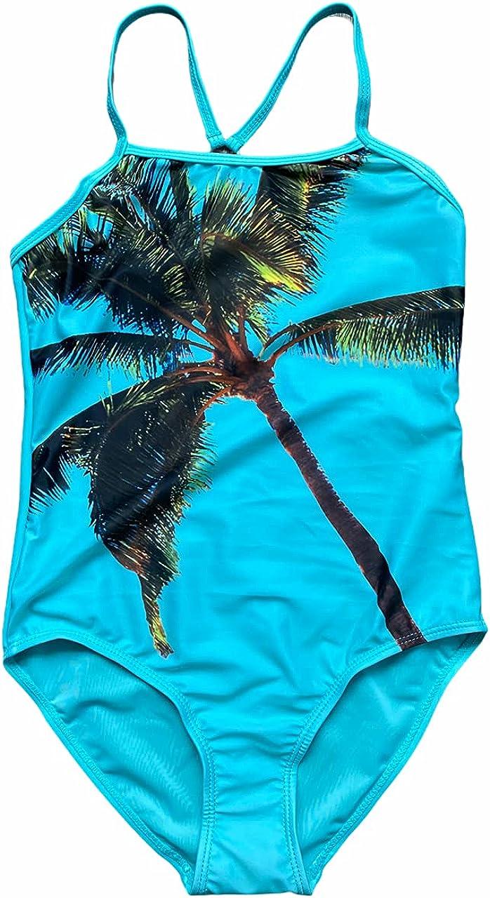 Joe Boxer Girls' One - Piece Swimsuit - Palm Tree