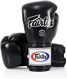 Fairtex Boxing Gloves BGV5 - Super Sparring Gloves, Black/White Color. Size: 12 14 16 oz. Sparring Gloves for Kick Boxing, Muay Thai, MMA