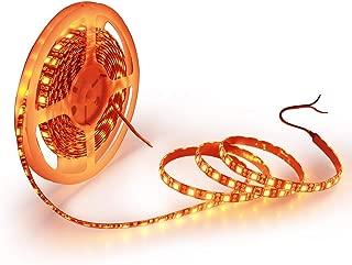 ALITOVE 16.4ft 5050 SMD Black PCB Orange LED Flexible Strip Light lamp 5M 300 LEDs Waterproof IP65 12V DC for Home Hotels Clubs Shopping malls Cars Lighting