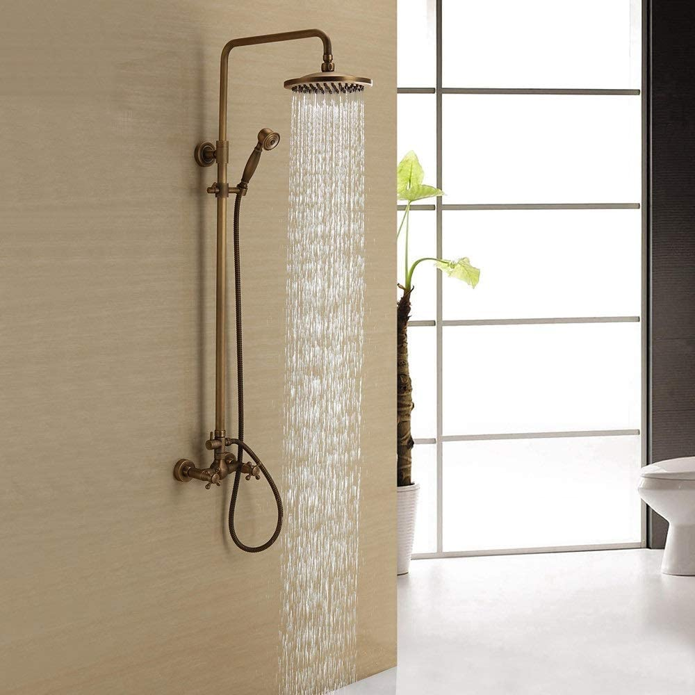 KXA Shower Tap Faucet Set Plumbing Hardw Copper trust Classic Household