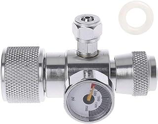 HELYZQ Manômetro regulador de pressão de CO2 JIS m22-14 acima do redutor de cilindro de 1500PSI