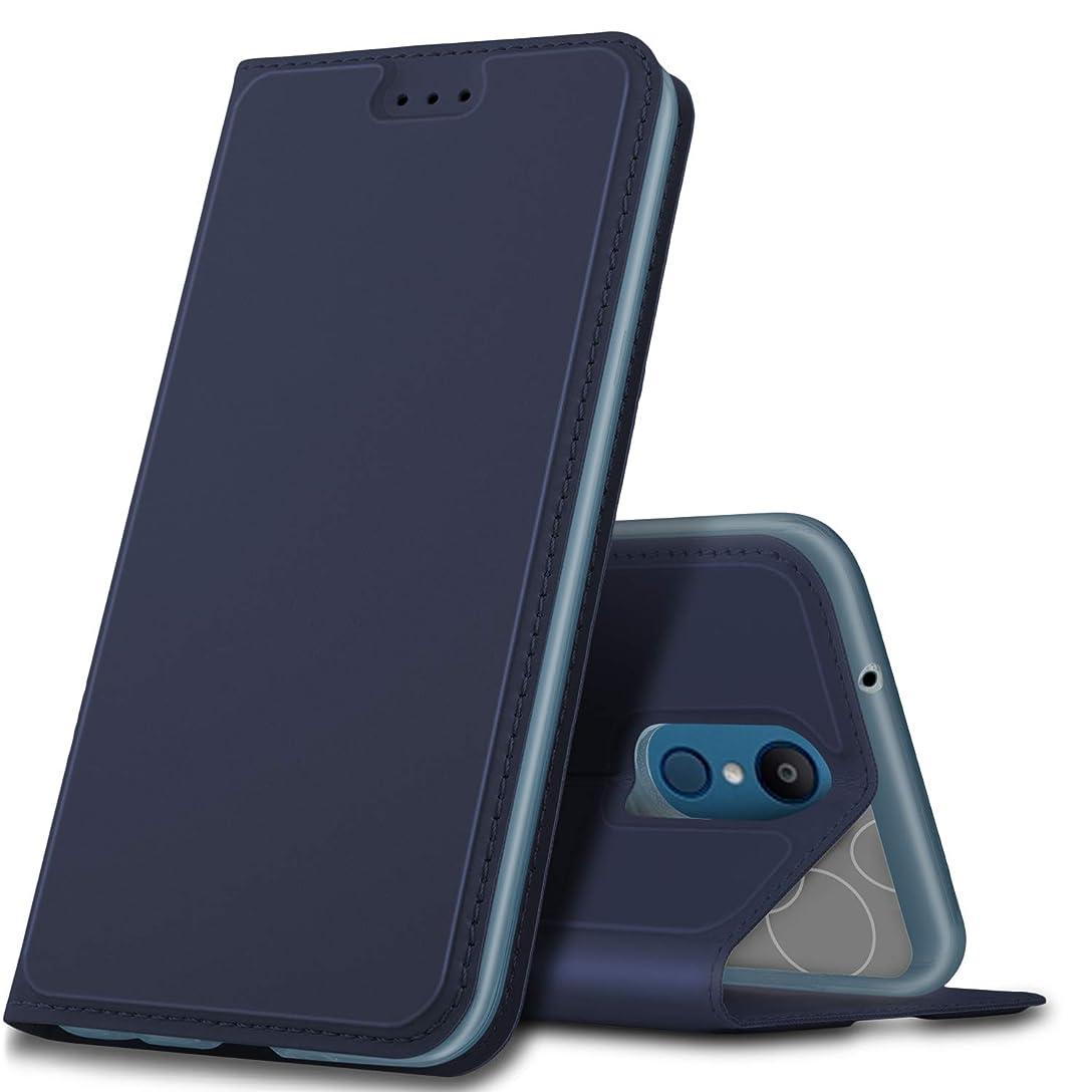 シェルタードループジムELTD LG it LGV36 ケース 手帳型 au LG it LGV36 カバー PUレザーケース カード収納 財布型 横置きスタンド機能 マグネット式 横開き耐衝撃 軽量 薄型 落下防止 耐衝撃 シンプル ダークブルー
