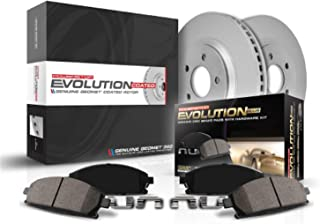 Power Stop CRK690 Coated Brake Rotor & Ceramic Brake Pads- front