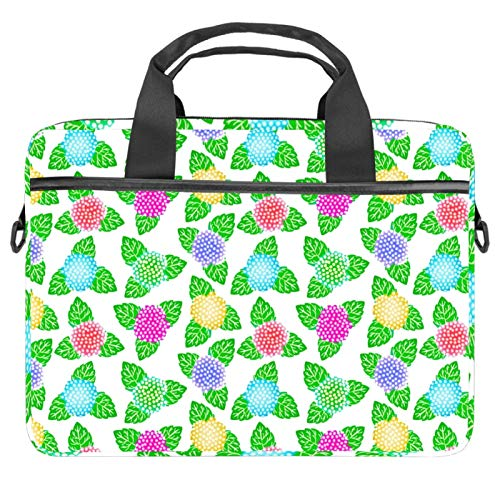 2021 Laptop Bag 20 inch Business Computer Laptop Case Laptop Sleeve Shoulder Messenger Bag Tablet Carrying Case for Women and Men Japanese Pattern Floral Green Purple Yellow Red