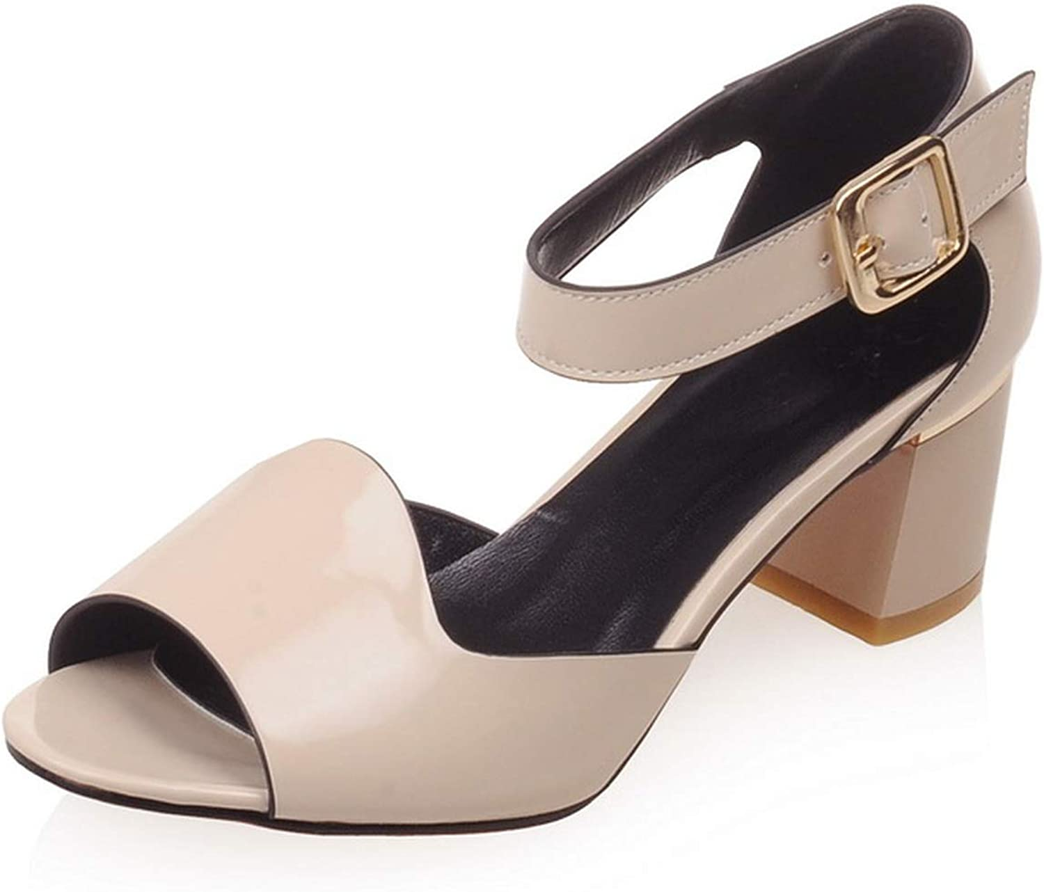 Pink-star Sexy Thick Square Heels Open Toe Summer Sandals shoes for Female Girl's Summer Wear