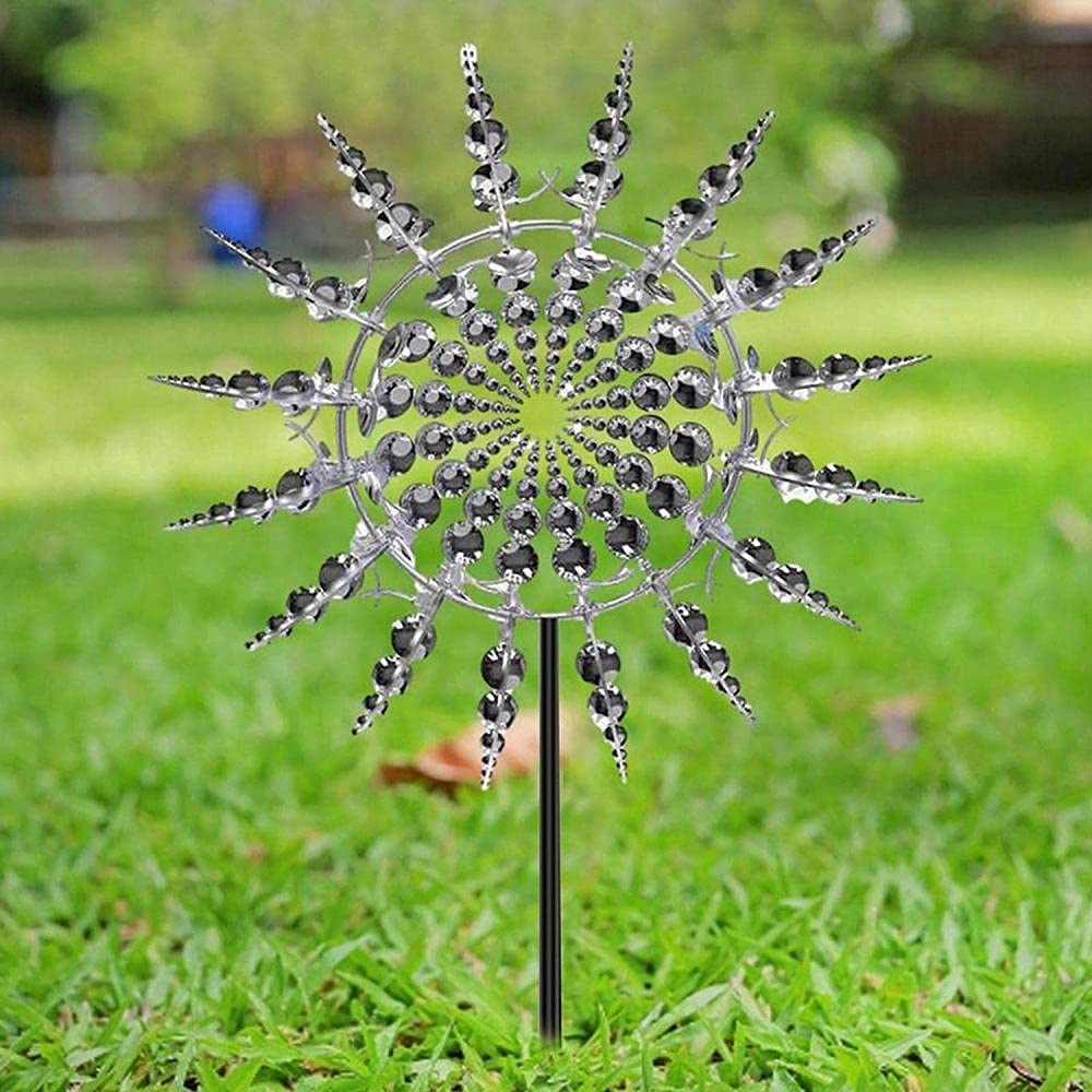 CAIYUAN Unique and Magical Metal Move Windmill New product! New type service wi Spinners Wind