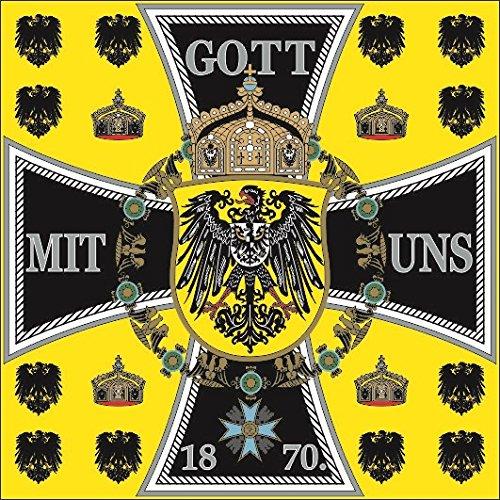 U24 Flagge Fahne Kaiserstandarte Gott mit Uns Deutschland Preussen 120 x 120 cm