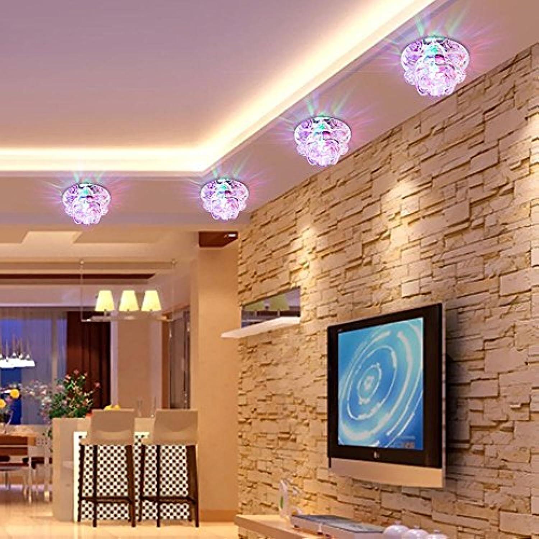 LTQ&qing LED 220V 5 Watt Led kristall scheinwerfer downlight   gang gehweg balkon flur deckenleuchten, 100  45 (mm), Farbeful Light