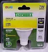 Lampada LED dicroica MR16 DIMERIZÁVEL 7W 2700 Luz quente