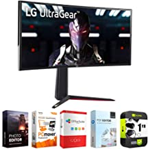 $949 » LG 34GN850-B Ultragear 34 inch QHD 3440x1440 21:9 Curved Gaming Monitor Bundle with 1 Year Extended Protection Plan and Elite Suite 18 Standard Editing Software Bundle