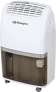 Orbegozo DESHUMIDIFICAD. 20L DH 2060 48DB. Digital.DEPOS, 380 W, 3.5 litros, 48 Decibelios, 2 Velocidades, Blanco y negro