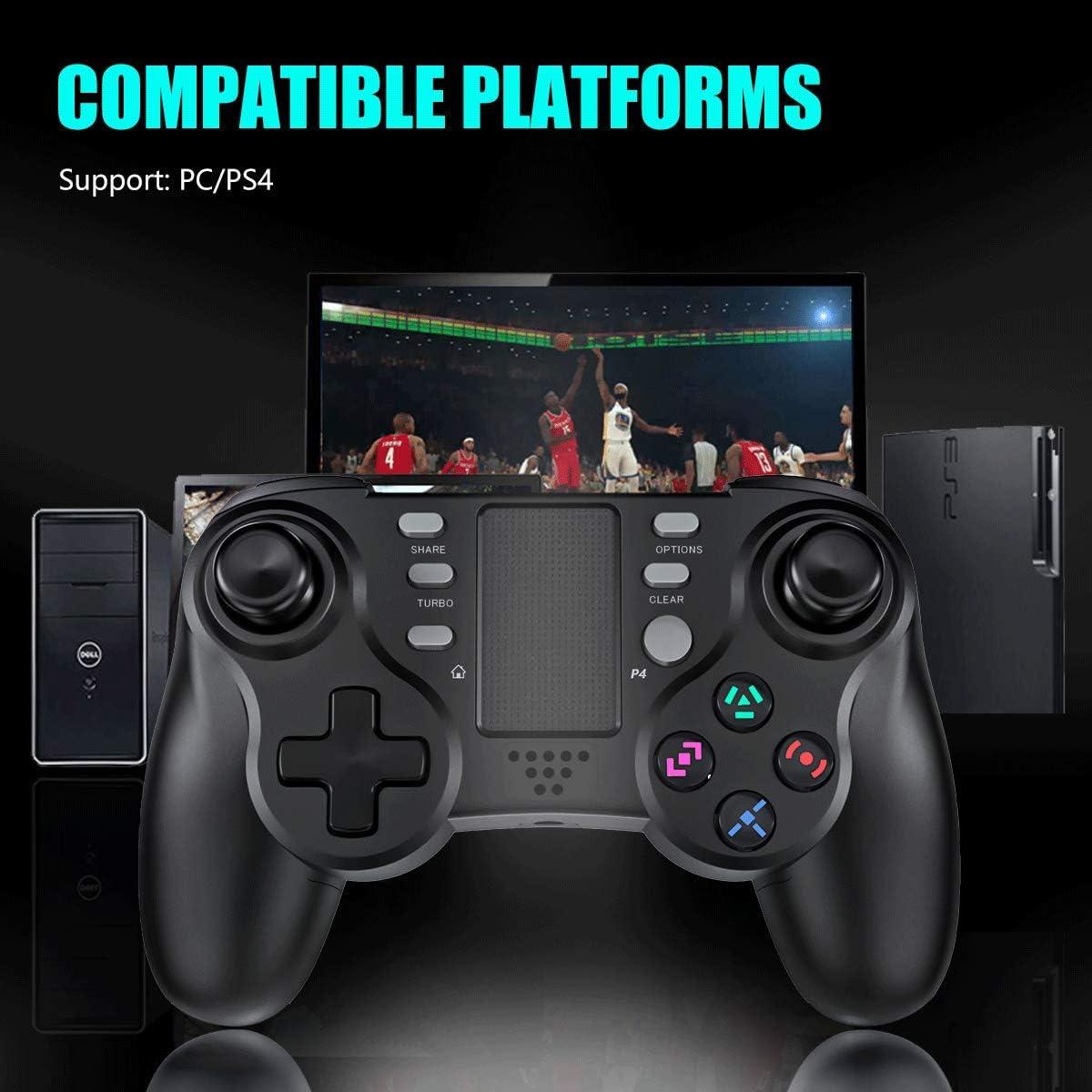 Wireless Controller de Juego Inal/ámbrico Bluetooth Joypad Distancia Joystick Gamepad Controledor de Doble vibraci/ón Compatibile con PS4//PS4 Slim// PS4 Pro//PS3 TUTUO Mando para PS4