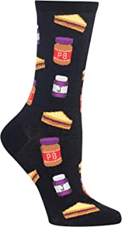 HotSox Womens Peanut Butter and Jelly Socks, 1 Pair, Womens Shoe 4-10