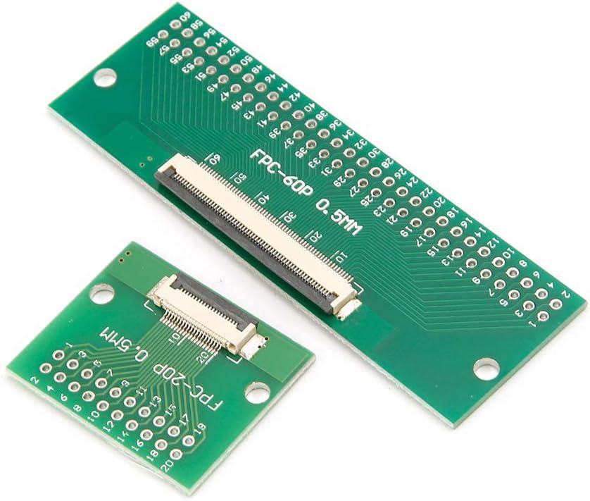 JOYKK Soudure de Carte de convertisseur de Carte PCB de 0.5mm FPC//FFC /à 2.54mm FPC//FFC SMT avec Le connecteur 50 bornes
