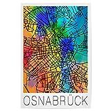 artboxONE Poster 30x20 cm Städte Retro Map Osnabrück