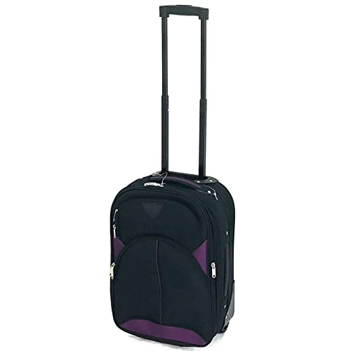 c6e43722175b Ryanair   EasyJet Lightweight Expandable Cabin Approved Trolley 2 Wheeled  Luggage Bag (18 inch FITS