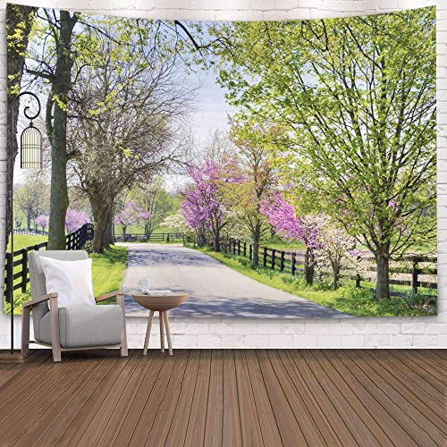 Tapiz para colgar en la pared, tapiz para dormitorio, decoración de la habitación, área de granja de caballos al aire libre, tapiz de Lexington Ky Art, manta de playa, tapiz para acampar, negro azul