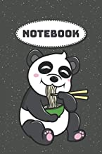 Notebook: Panda with Ramen Noodles Dot Grid Notebook, Diary, Journal or Planner   Size 6 x 9   110 dotted Pages   Office Equipment   Great Gift idea ... Journaling, Calligraphy and Hand Lettering
