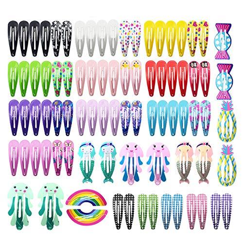84 pcs Belle Bande Dessinée Imprimé Pinces À Cheveux Épingles À Cheveux En Métal Snap Barrettes pour Enfants Enfants Fille Cheveux Accessoires