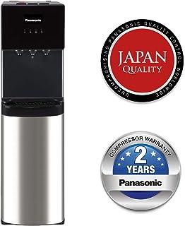 Panasonic Bottom Loading Water Dispenser, SDM-WD3438BG Black/ Stainless Steel Finish, Best for Home Kitchen & Office, Hot,...