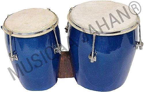 Music World MUSIQAA JAHAN® Wooden Bongo (Small) - 2 Piece
