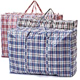 VIROSA EXTRA LARGE Strong and Durable Laundry Bags   PACK of 5   80cm x 60cm   Ideal for Laundry/Moving House/Shopping/Storage   Reusable Store Zip Bag