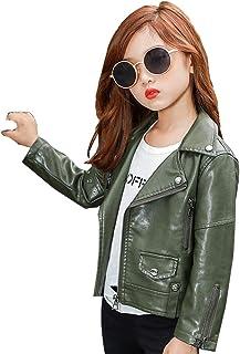 808bf5a85 Amazon.fr : Blouson cuir - Vert / Fille : Vêtements
