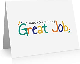 Great Job Note Cards (12 Cards and Envelopes) Employee Thank You - Good Job Cards