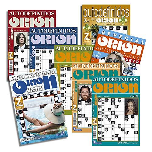 DataPrice Pack de 8 Libros de Pasatiempos ORIÓN. Autodefinidos para Adultos Variados. - Ed. Zugarto -.