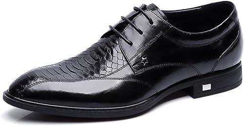 LEDLFIE zapatos De Hombre zapatos De Hombre De Negocios zapatos De Cuero zapatos De Derby De Cuero Genuino zapatos Puntiagudos