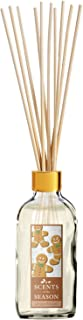 Scents of the Season Gingerbread Scented Reed Diffuser Set | Home Fragrance | 14 Reed Diffuser Sticks and One 4 oz Bottle | Hand Made in The USA