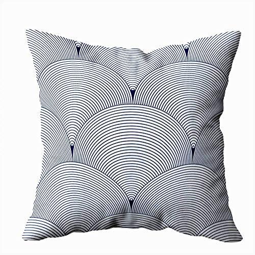 WH-CLA Cushion Cover Fondo Abstracto Geométrico Techo Repetido Azul Azul Funda De Almohada Estándar 45X45Cm Cuadrado Impresión A Doble Cara Funda De Almohada Fundas De Almohada Coloridas