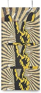 XIXIKO - Sac de rangement mural à suspendre avec 3 poches - Motif tribal - Pour vêtements, articles divers, école, chambre...