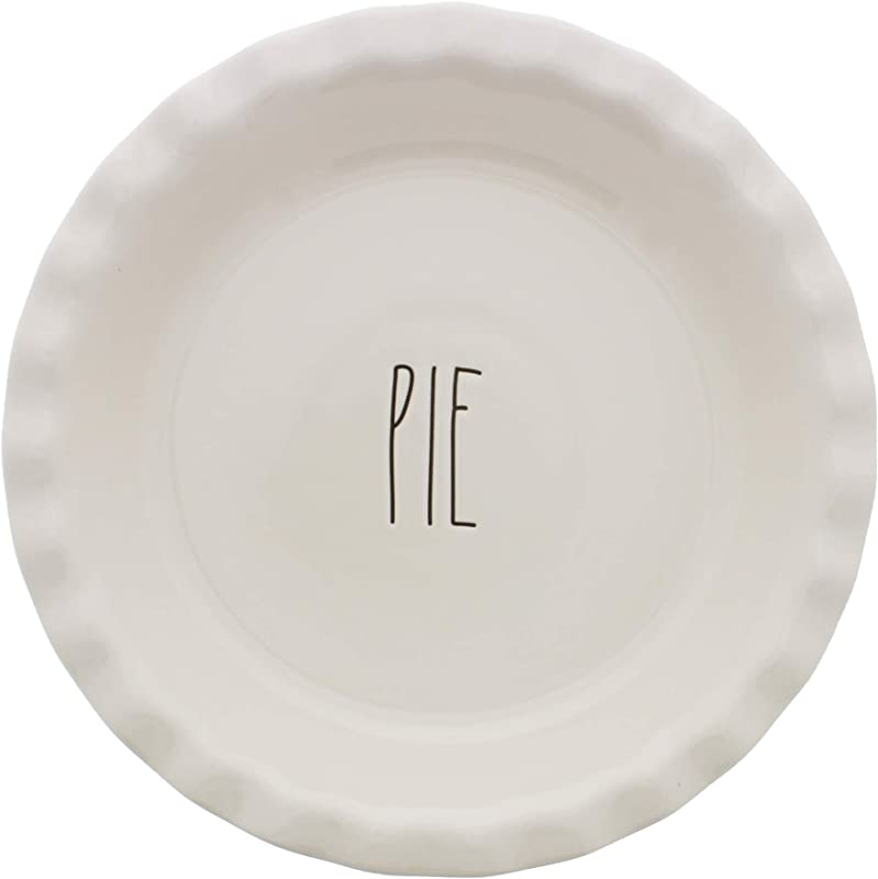 Rae Dunn By Magenta PIE Scalloped LL Pie Plate Dish