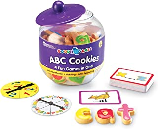 Learning Resources Goodie Games ABC Cookies, 4 Games in 1, Math Games for Kindergarten, Alphabet, Pre-Reading, Phonics, Ag...