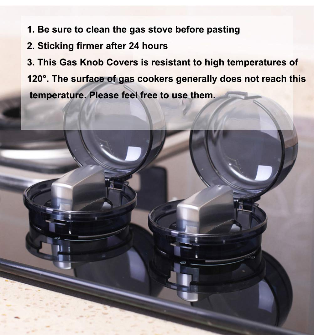 Stove Knob Covers,2-Packs Child Proof Stove Safety Covers,Universal Design