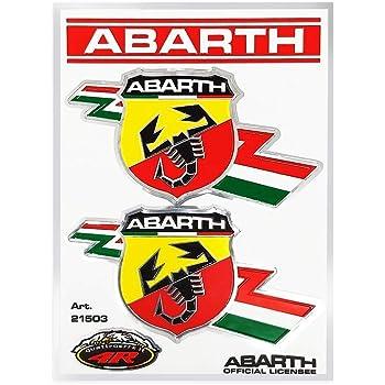 2 X 100 Mm Abarth Italienisches Aufkleber Abziehbilder Qualität Gedruckt Vinyl Label Bürobedarf Schreibwaren