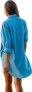 Boyfriend Beach Shirt - Water Shedding, Lightweight, Quick Dry Beach and Yoga Cover Up