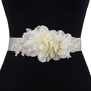 Azaleas Women's Flower Bridal Belt Sashes Wedding Belts Sash for Wedding