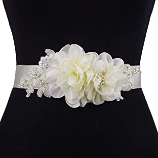 Azaleas Women's Flower Bridal Belt Sashes Wedding Belts Sash for Wedding