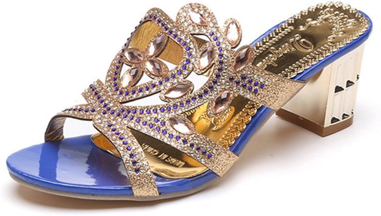 Weiwei Ladies Summer High Heel Cool Slippers,Rough Fashion Sandals