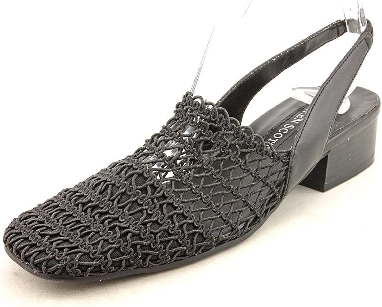 Karen Scott Womens Carolton Closed Toe Casual Slingback Sandals Taupe