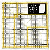 Magicfly Set de Reglas de Acrílico con Líneas de Cuadrícula para Costura y Patronaje, 4 Tamaños, con 48 Anillos Antideslizantes y 20 Clips de Costura
